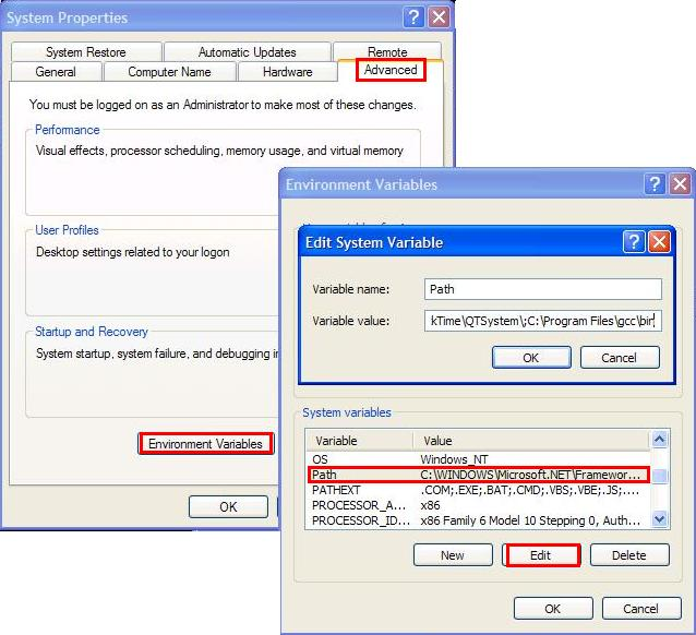 install gcc windows xp